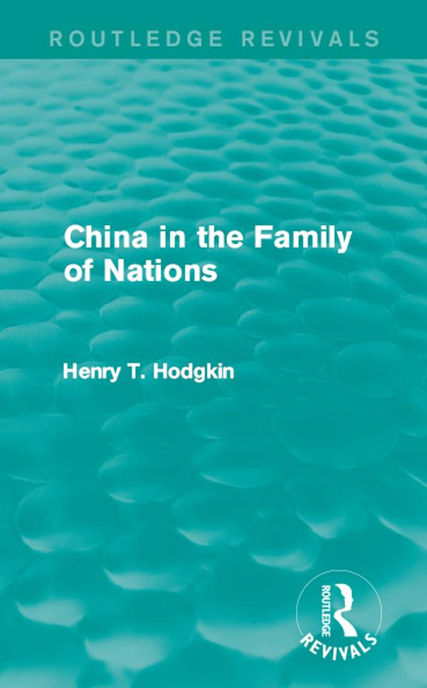 China in the Family of Nations (Routledge Reviv...