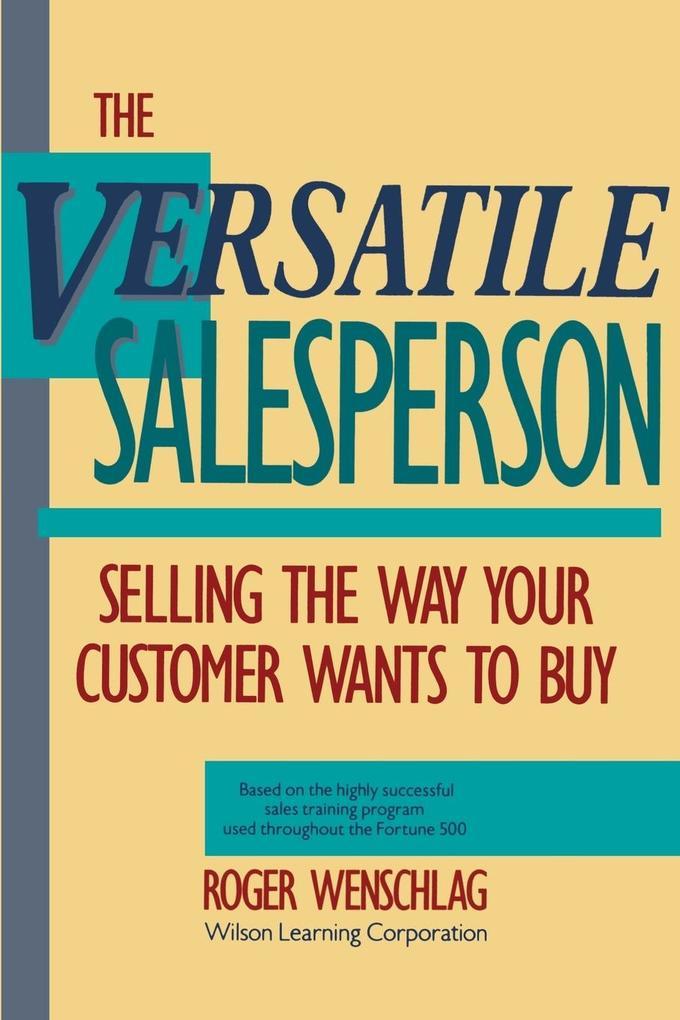 The Versatile Salesperson als Taschenbuch