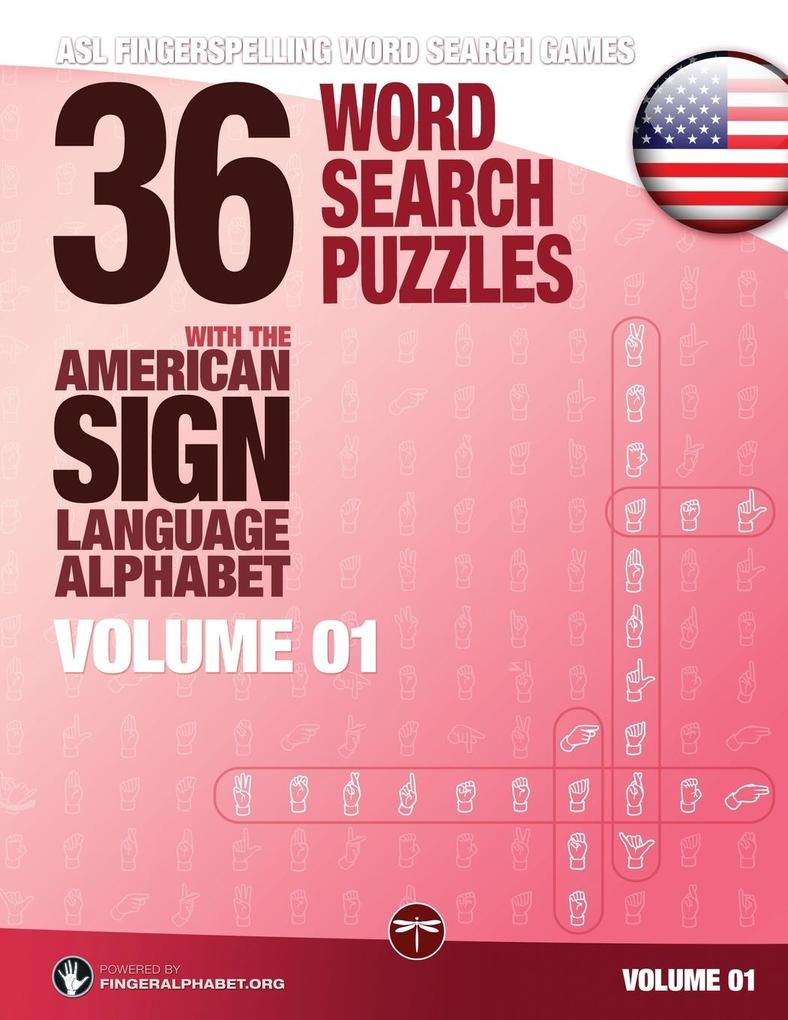 36 Word Search Puzzles with the American Sign Language Alphabet - Volume 01 als Taschenbuch