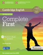 Testbank Complete First Second edition. Student's Book with answers with CD-ROM with Testbank