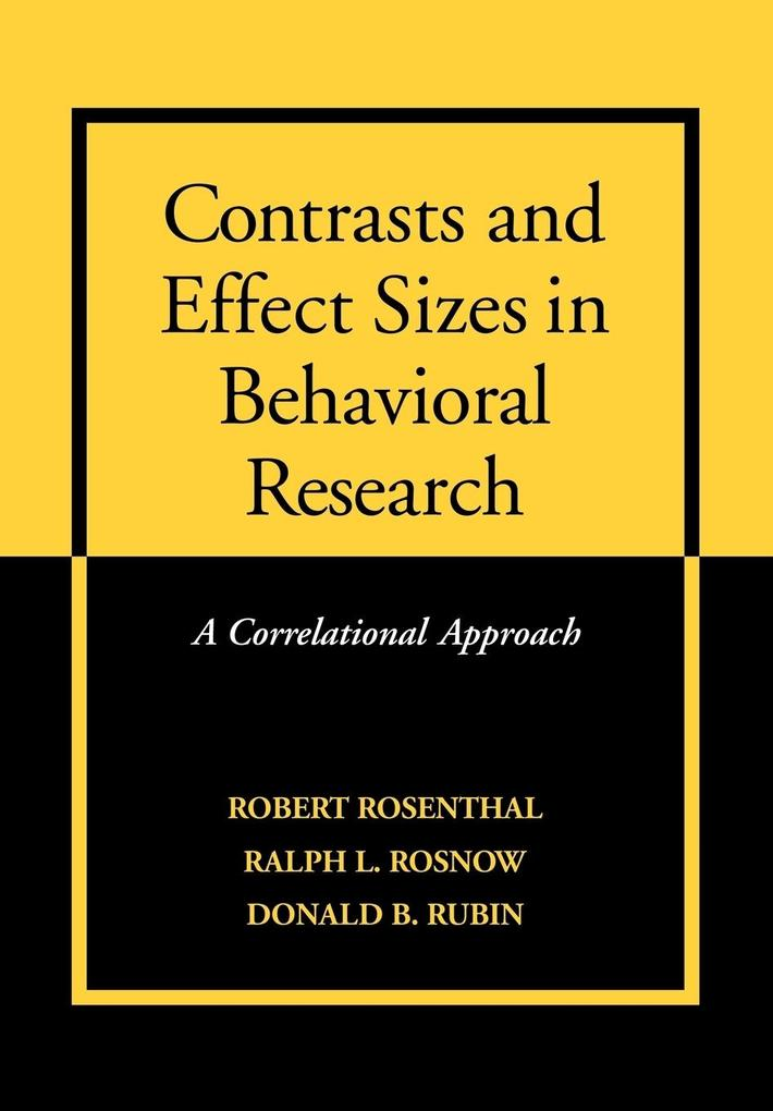 Contrasts and Effect Sizes in Behavioral Research als Taschenbuch