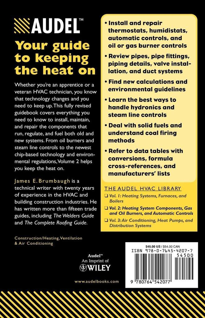 Audel HVAC Fundamentals: Heating System Components, Gas and Oil Burners, and Automatic Controls als Taschenbuch