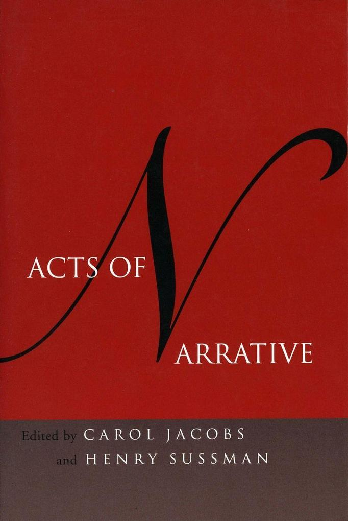 Acts of Narrative als Taschenbuch