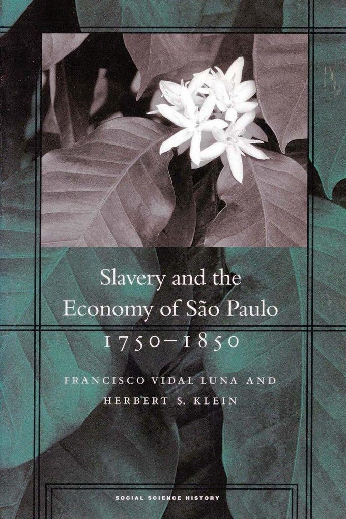 Slavery and the Economy of Sao Paulo, 1750-1850 als Taschenbuch