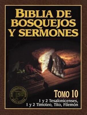 Biblia de Bosquejos y Sermones-RV 1960-1 y 2 Tesalonicenses, 1 y 2 Timoteo, Tito, Filemon als Taschenbuch