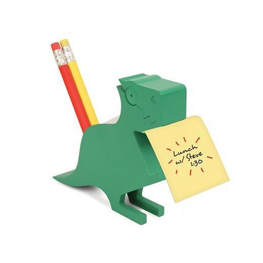 Dino Pen and Memo Holder grün