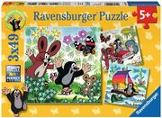Ravensburger 09209 - Unterwegs mit dem Maulwurf, 3x49 Teile Puzzle