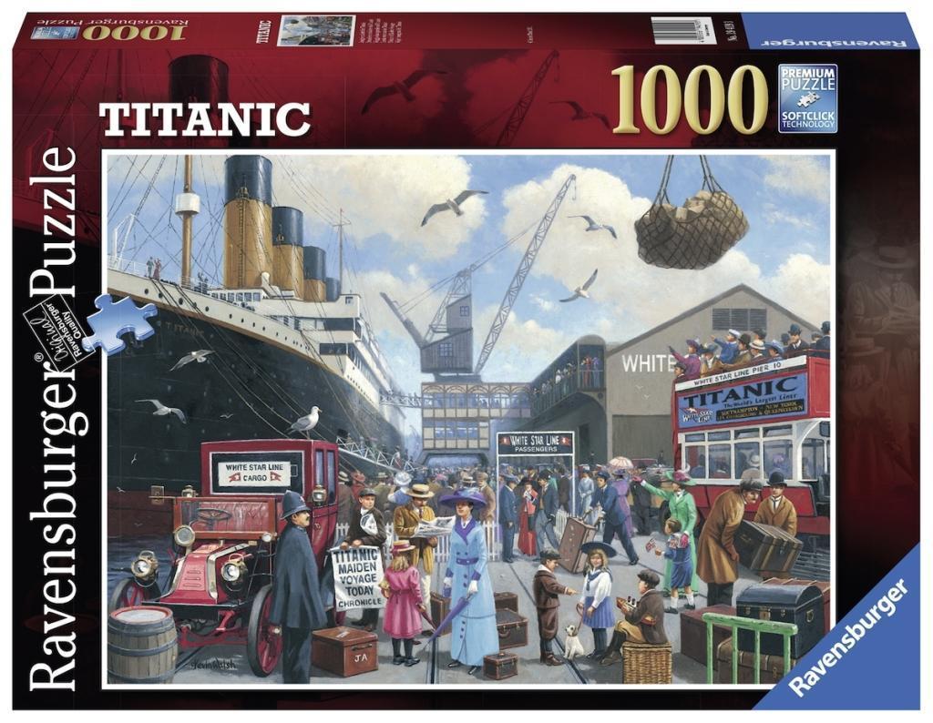 Jungfernfahrt der Titanic. Puzzle 1000 Teile