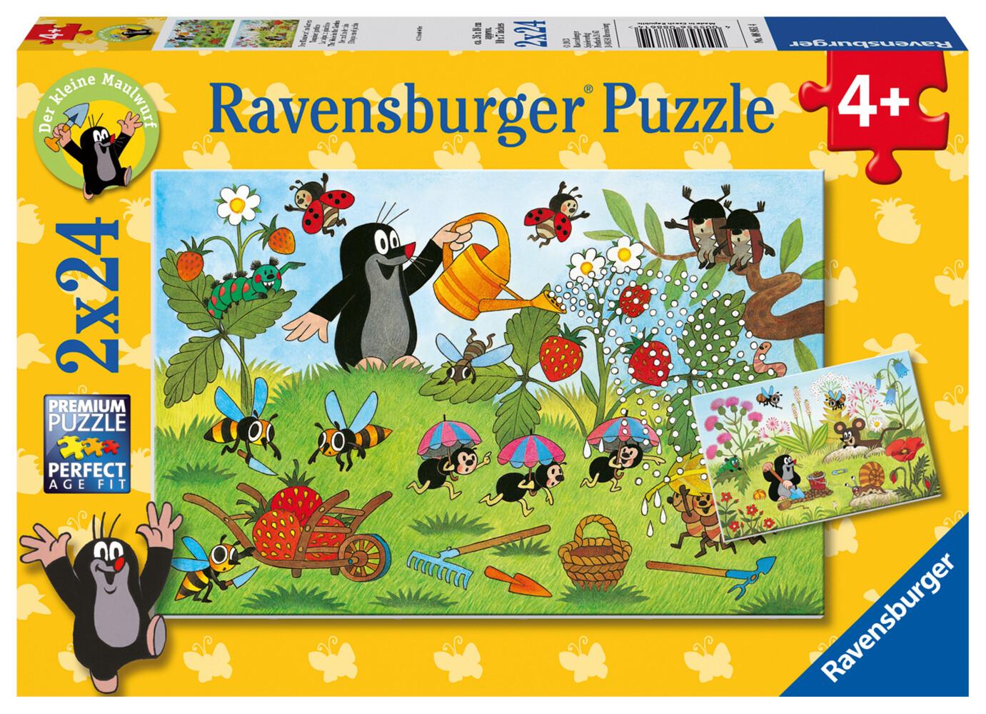 Ravensburger Spiel - Der Maulwurf im Garten, 2x24 Teile als Spielware