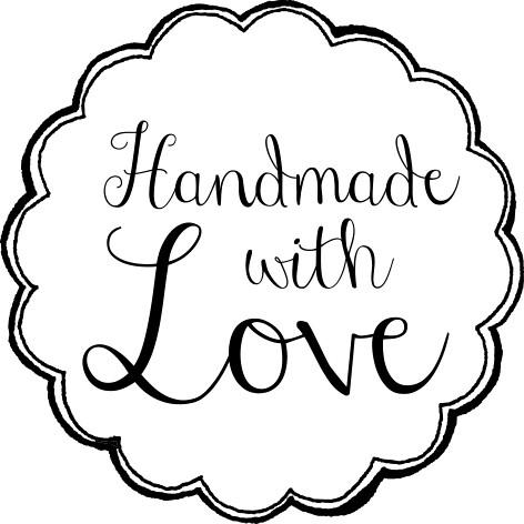 Stempel handmade with love, rund 35/35 mm