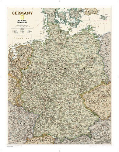 National Geographic Map Executive Germany, Plan...