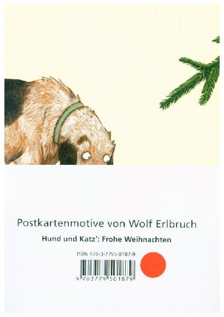 Weihnachten, Motiv Hund & Katz, 10 Postkarten