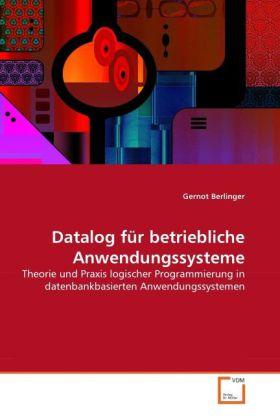 Datalog für betriebliche Anwendungssysteme als ...