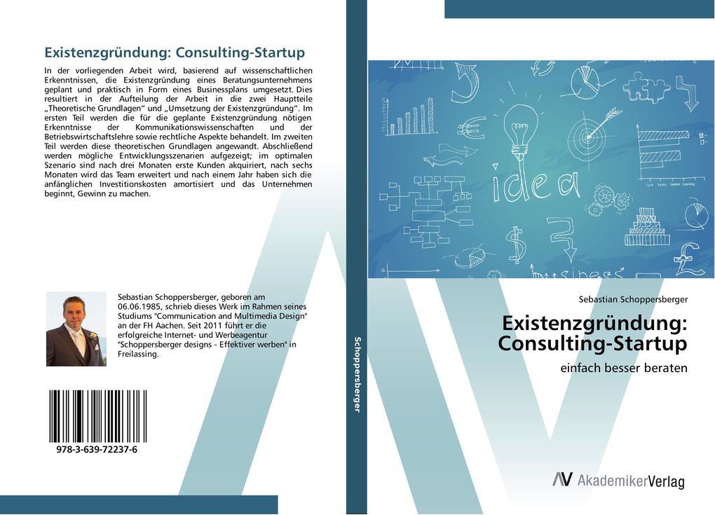 Existenzgründung: Consulting-Startup als Buch v...