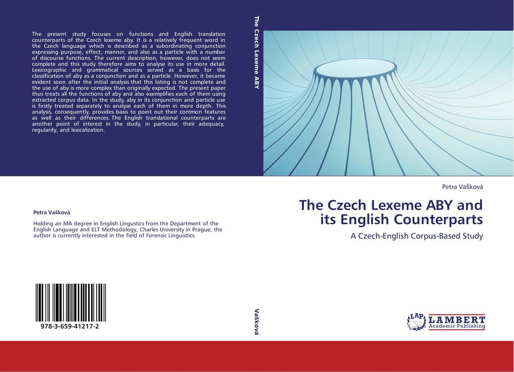 The Czech Lexeme ABY and its English Counterpar...