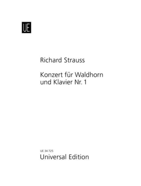 Konzert Nr. 1 als Buch von Richard Strauss