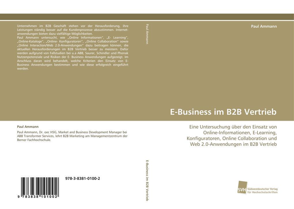 E-Business im B2B Vertrieb als Buch von Paul Am...