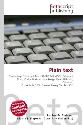 Plain text als Buch von