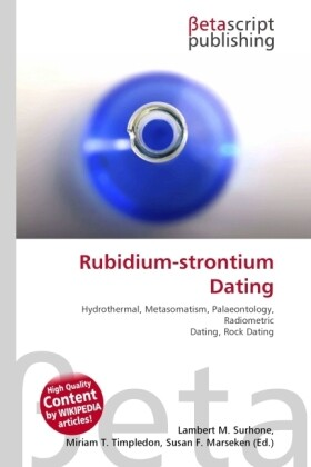 Rubidium-strontium Dating als Buch von