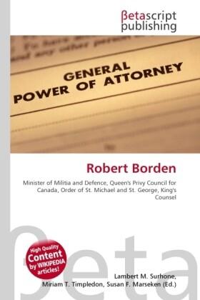Robert Borden als Buch von