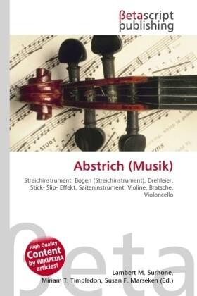 Abstrich (Musik) als Buch von