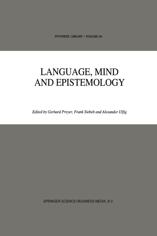 Language, Mind and Epistemology als Buch