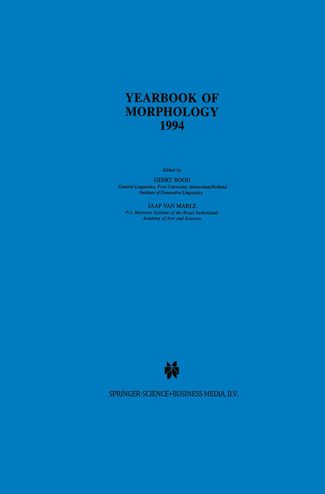 Yearbook of Morphology 1994 als Buch
