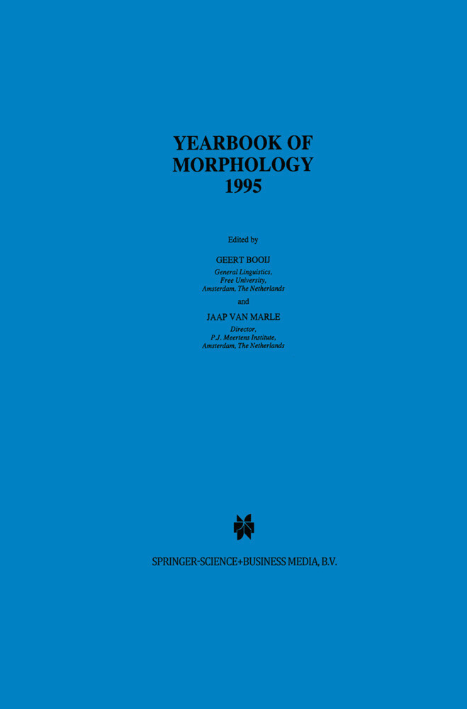 Yearbook of Morphology 1995 als Buch