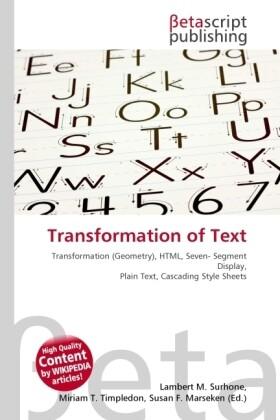 Transformation of Text als Buch von