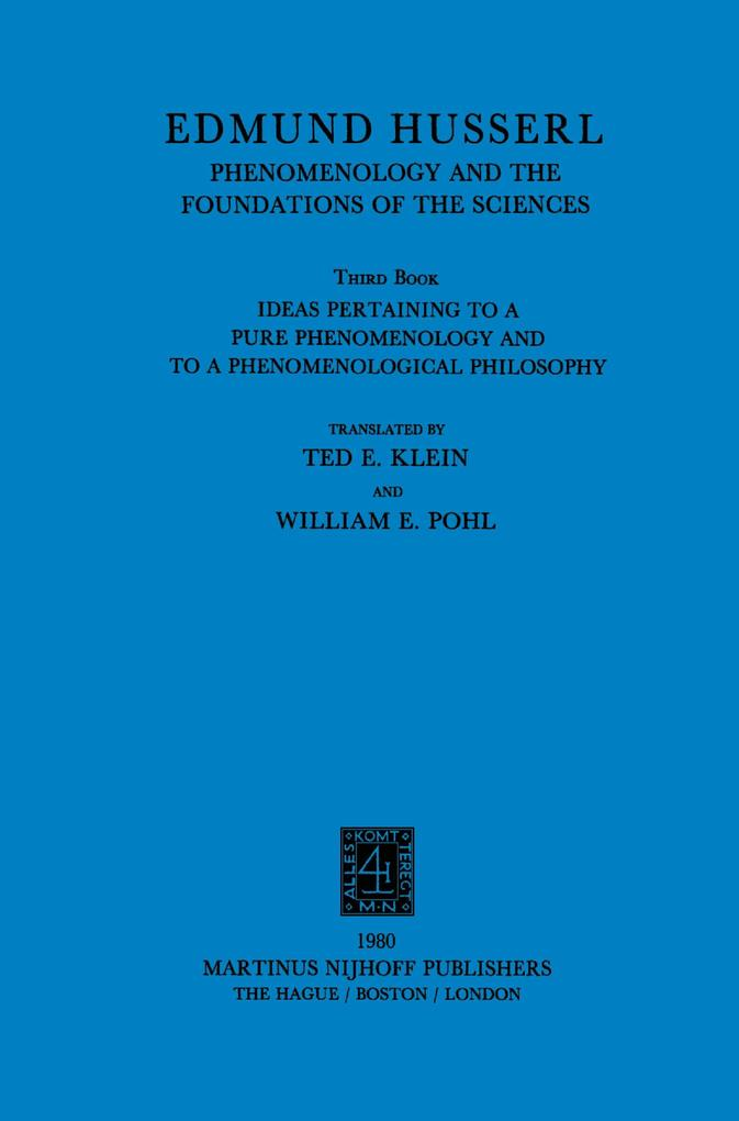 Ideas Pertaining to a Pure Phenomenology and to a Phenomenological Philosophy als Buch