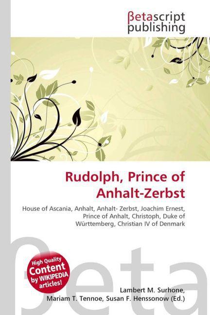 Rudolph, Prince of Anhalt-Zerbst als Buch von