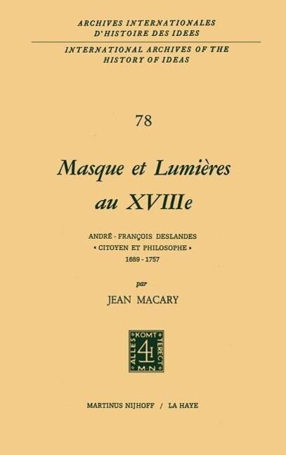 Masque et lumières au XVIIIième siècle als Buch