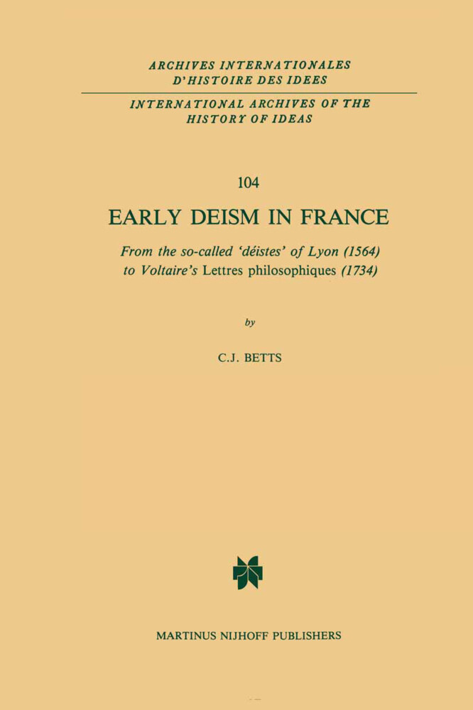 Early Deism in France als Buch