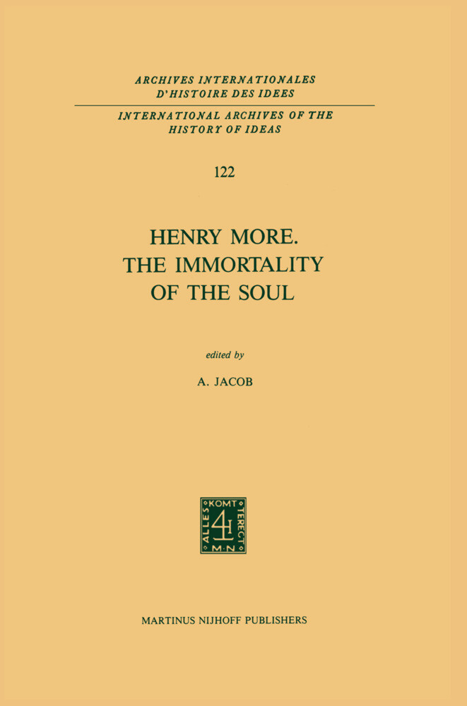 Henry More. The Immortality of the Soul als Buch