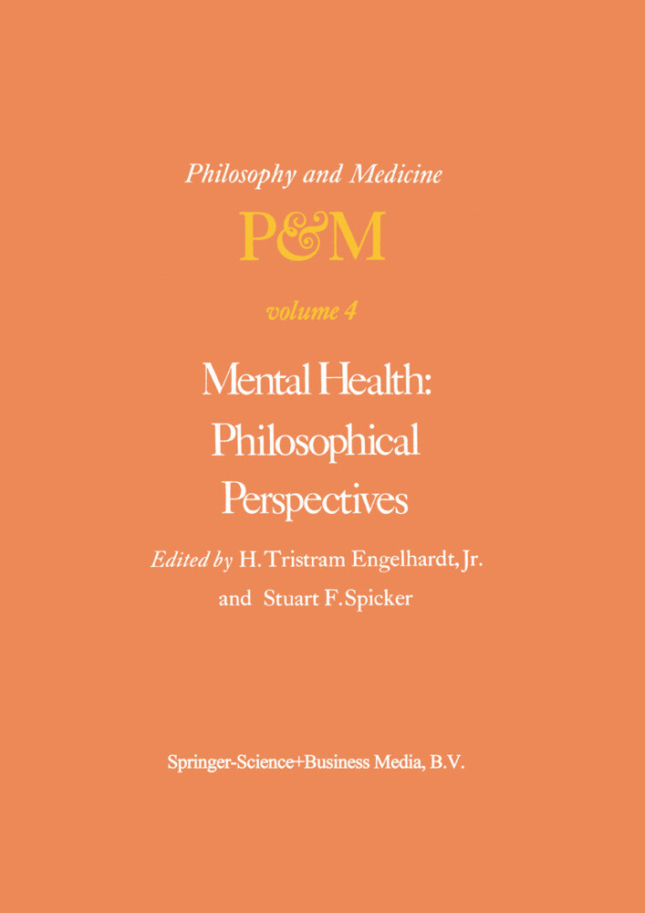 Mental Health: Philosophical Perspectives als Buch