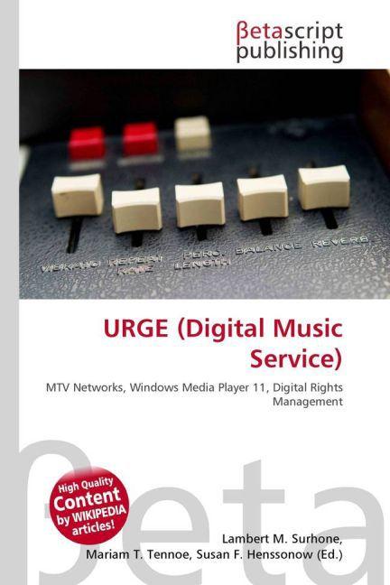 URGE (Digital Music Service) als Buch von