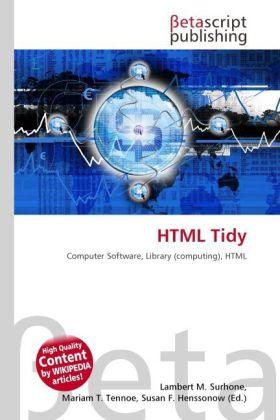 HTML Tidy als Buch von