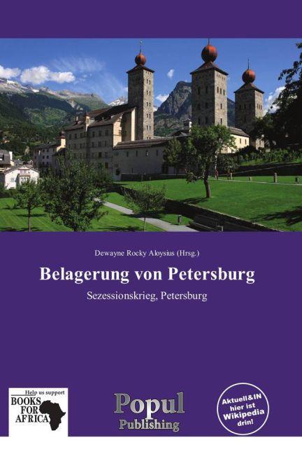 Belagerung von Petersburg als Buch von