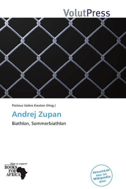 Andrej Zupan als Buch von