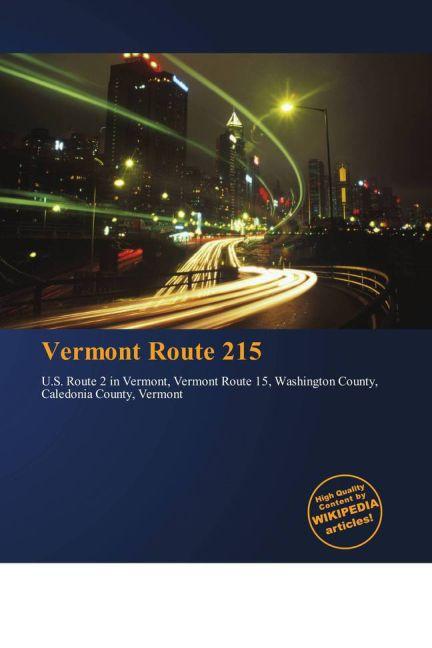 Vermont Route 215 als Buch von