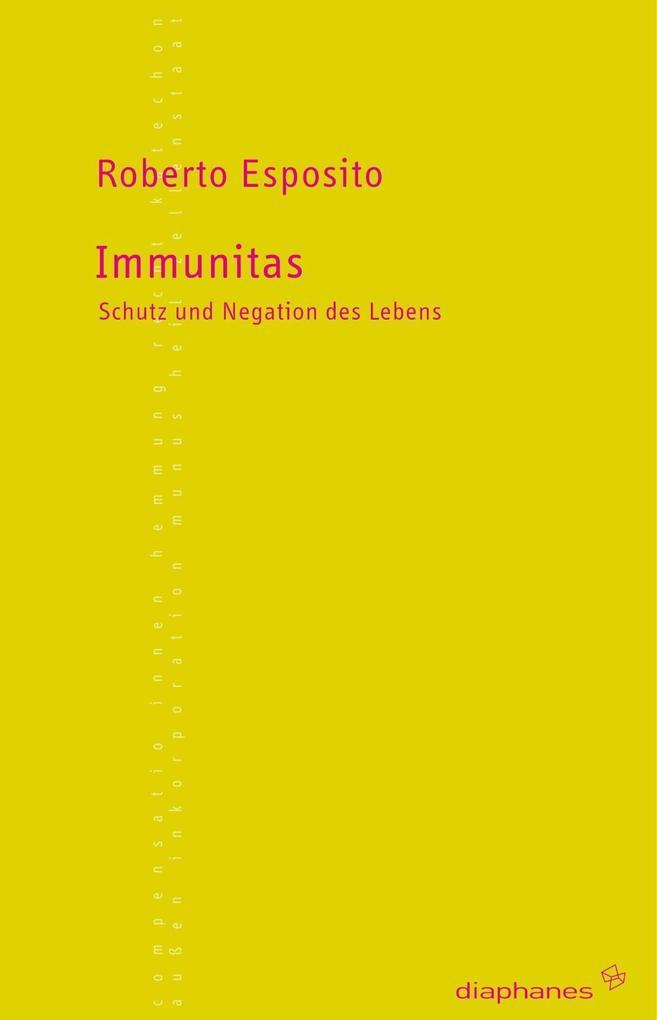 Immunitas als Buch