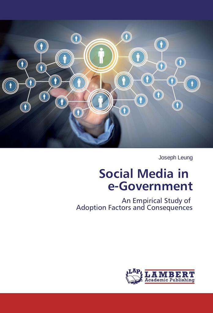 Social Media in e-Government als Buch von Josep...