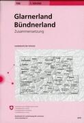 Swisstopo 1 : 100 000 Glarnerland / Bündnerland