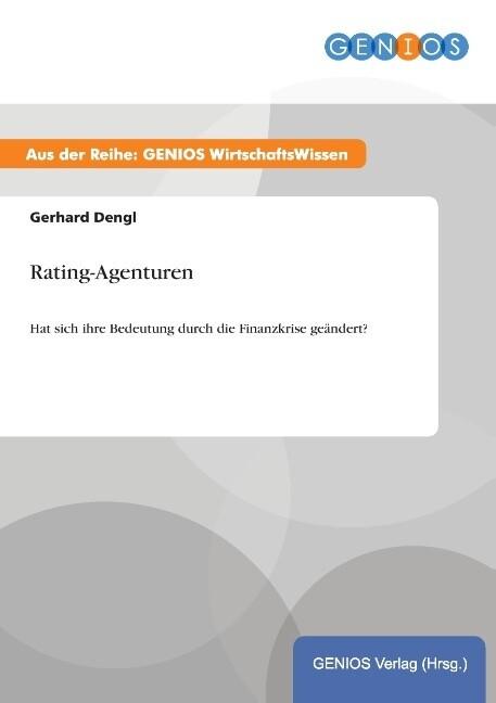 Rating-Agenturen als Buch von Gerhard Dengl