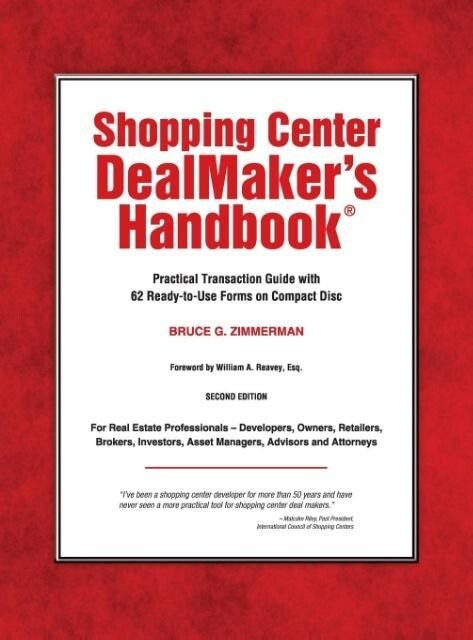 Shopping Center Dealmaker´s Handbook(r) als Buc...