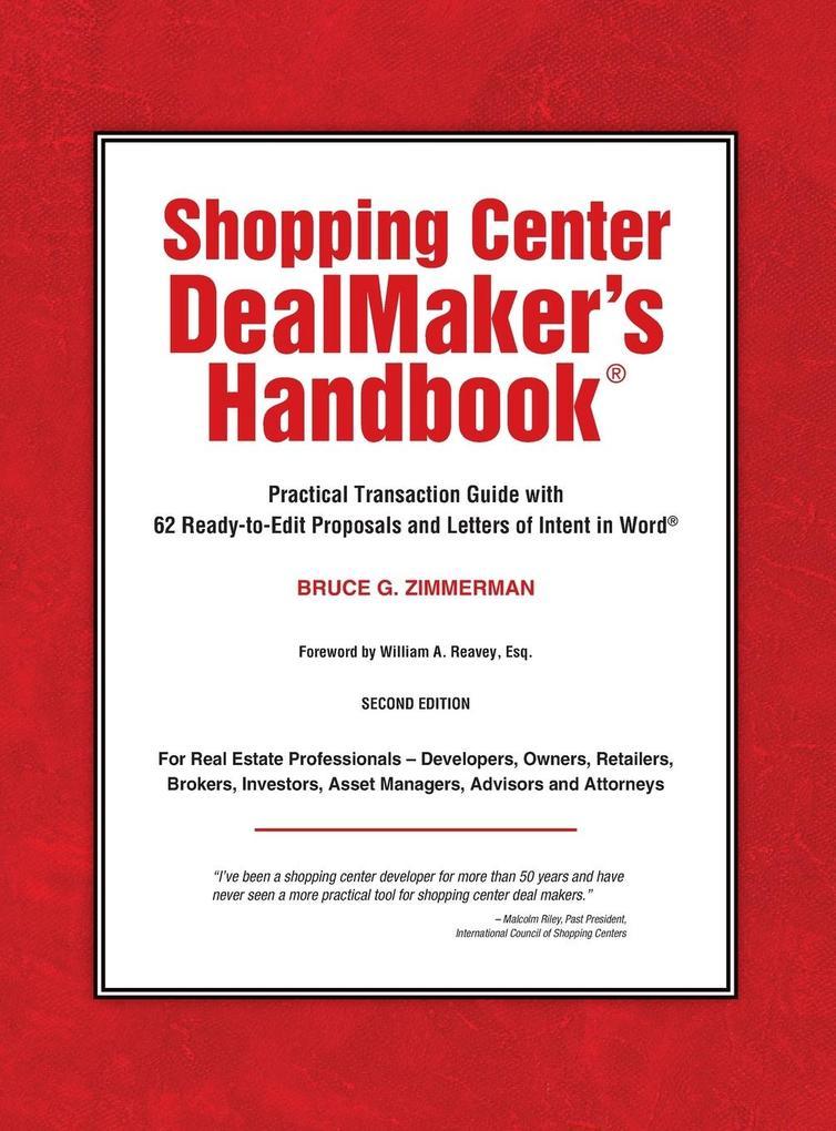 Shopping Center Dealmaker´s Handbook(r) als Buc...