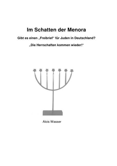 """Im Schatten der Menora - Gibt es einen """"Freibrief"""" für Juden in Deutschland?- als Buch (gebunden)"""