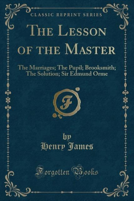 The Lesson of the Master als Taschenbuch von He...