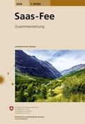 Swisstopo 1 : 25 000 Saas Fee