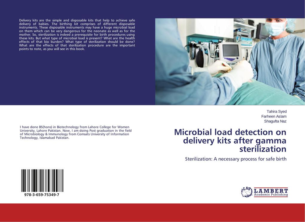 Microbial load detection on delivery kits after...